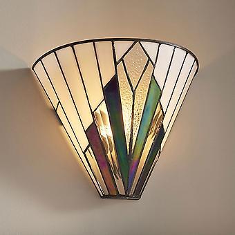 Interiors 1900 Astoria Tiffany Glas Wandleuchte