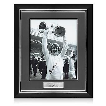 Allan Clarke Signed Leeds United Photo. Deluxe Frame