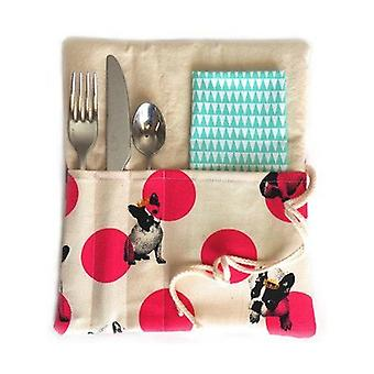 Picnic zero waste Cutlery case and napkin 1 unit