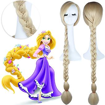 Womens Long Braids Blonde For Cosplay Costume Princess Pre-stled Wig