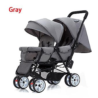 Twin Stroller, Lightweight Folding, Front And Rear Seats Can Sit And Lie