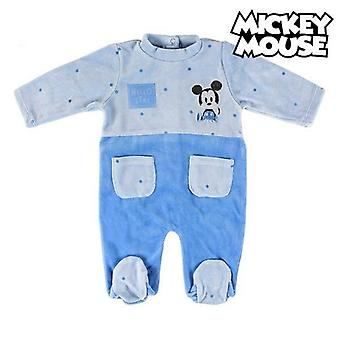 Baby's long-sleeved romper suit mickey mouse 74612 blue