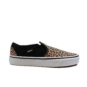 Vans WM Asher Cheetah Tulosta Canvas Naisten Slip Lenkkarit