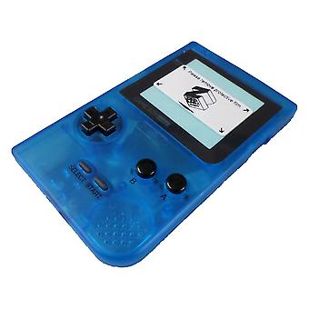 Replacement housing shell case repair kit for nintendo game boy pocket - clear blue | zedlabz