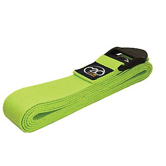 Fitness Mad 2M Deluxe bomuld Yoga bælte - Lime