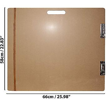 Large Artists Wooden Sketch Tote Board - Sketch Drawing Clipboard with Large Elastic Band W66cm