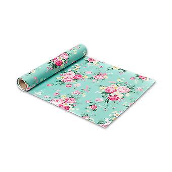 5m Floral Green Table Runner | Bryllup Eftermiddag Tea Party Fødselsdag Dekorationer