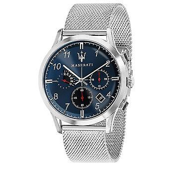 Maserati R8873625003 Men's Ricordo Chronograph Steel Mesh Wristwatch