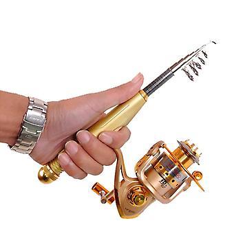 High carbon rock ultra light pocket fishing rods 1.2m 1.5m 1.8m 2.1m super hard short telescope fishing ultralight spinning rod