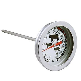 Meat Thermometer With Instant Read, 0℃~120℃ Long Probe Milk Coffee Dial 52mm Bbq Grill Monitor
