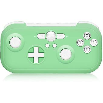 Controller Switch 6-Axis Sensor Double Shock Wireless Bluetooth Pro Wireless Switch Controller for Nintendo Switch Compatible with Switch, Switch Lite, PS3, Steam(Green)