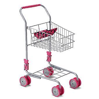 Moni Toy carrinho de compras 9328 altura 41,5 cm, assento de boneca, dobrável, a partir de 3 anos