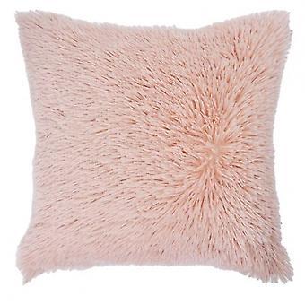 pillow Shaggy 50 x 50 cm textile pink