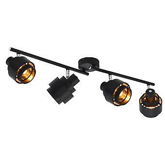 vidaXL 4-tie Spotlight Musta E14
