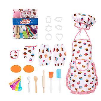 20 قطعة مجموعة الطبخ للأطفال، مطبخ الخبز التظاهر مجموعة لعبة