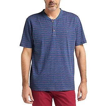Pioneer T-Shirt Henley Uni, Blue (Indigoblue 578), S Man