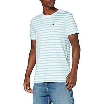 TOM SKRÄDDARE Denim Streifen Stickung T-Shirt, 23330-Soft Sky Blue Yarn D, XS Herr