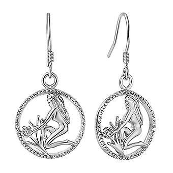 Zodiac sign of water earrings man, woman, handmade earrings with zodiac sign Autiga earrings, metal base, Ref. 4058433111233