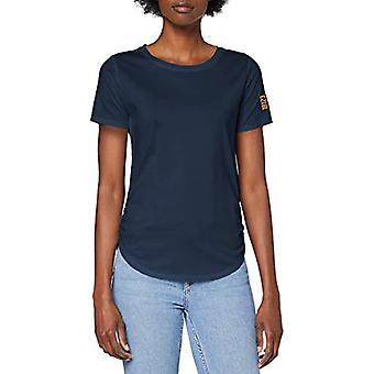 G-STAR RAW Liten Grafisk Mysid Optic Slim T-Shirt, Vintage Navy C539-1605, S Kvinna