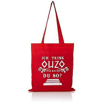 Texlab VEND-63423, Unisex-Adult Cloth Bag, Color: Red, One Size