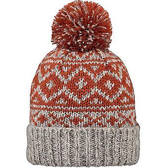 Barts Cartonn Bobble Hat in Rust