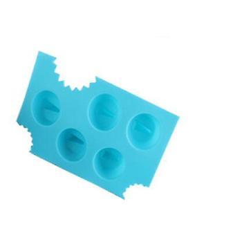 Cool Shark Fin Shape Ice Cube Sharkfin Ice Mold Maker Mould Ice Cream Tubs(8.2*13.3*4cm,Blue)