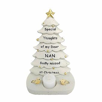 David Fischhoff Nan Christmas Tree With Flickering Led Candle Light Memorial Ornament