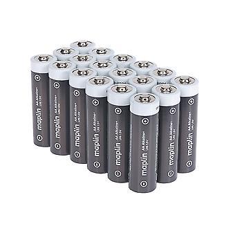 Maplin Extra Lång livslängd Hög prestanda Alkaliska AA Batterier Låda med 18