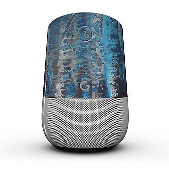 Abstract Wet Paint Blues V8 - Full-body Skin Kit For The Google Home