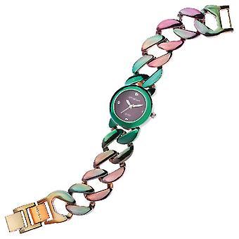 Reloj de pulsera de cuarzo, color multicolor en metal, vidrio, acero, L20xP2.7xA1.9 cm