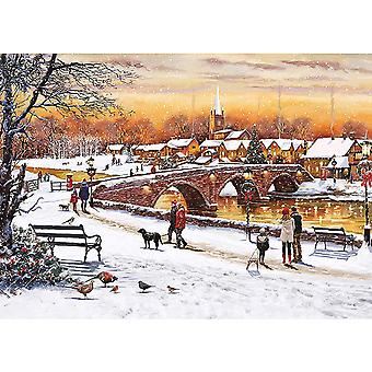 Otter House Winter Sunset Jigsaw Puzzle (1000 Pieces)