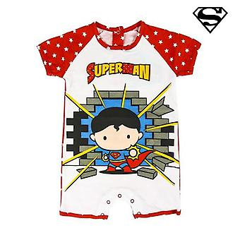 Baby's Short-sleeved Romper Suit Superman Red White (3M)