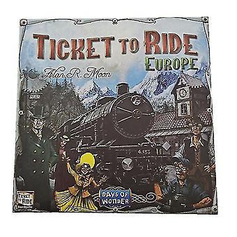 鉄道ヨーロッパの冒険者、乗るチケット、ヨーロッパ、英語版