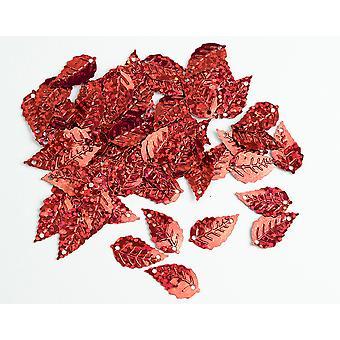 LAST FEW - 2.5g Paillettes holographiques à feuilles rouges avec trous pour épingles