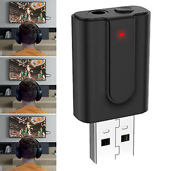 5.0 USB 2in1 Wireless Bluetooth Audio Adapter Transmitter Receiver For TV PC Car