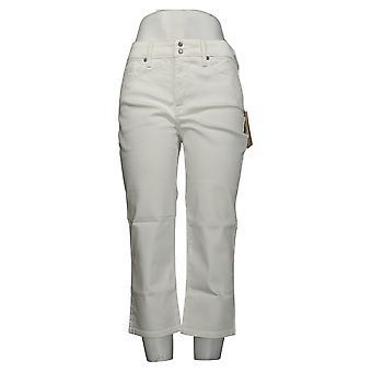 NYDJ Leggings Cool Embrace Skinny Crop avec fentes latérales blanches A377695