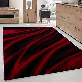 Courte tapis de salon tapis conception d'ombre motif Rouge Noir Meliert