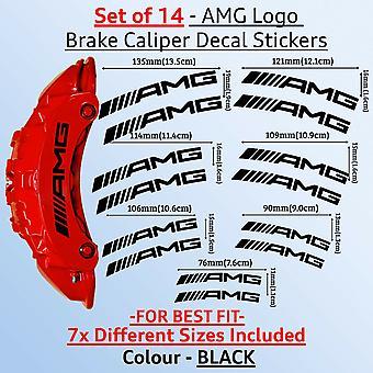 High Quality Brake Caliper Decal Stickers CURVED LOGO AMG 2x 76mm x 11mm