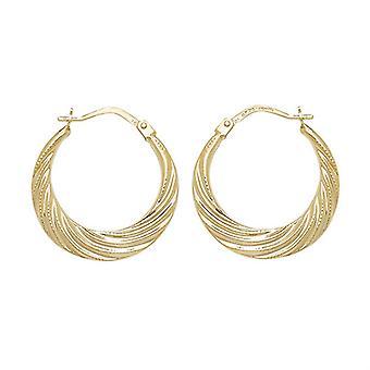 HS Johnson HSJ-ER073 Women's 9ct Gold Creole Earrings