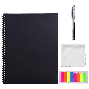 Uitwisbare herbruikbare slimme notebook -a4 formaat 20 vel met pen
