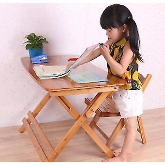 Justerbart og sammenleggbart trestudiebord med stol