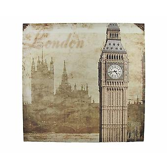 London Houses of Parliament and Big Ben Printed Canvas Wall Hanging