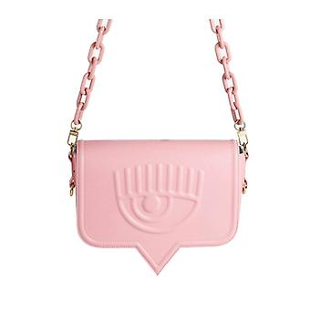 Chiara Ferragni Eyelike Pink Large Crossbody Bag