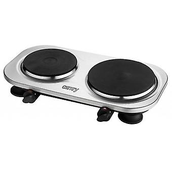 Camry CR 6511 Number of burners/boiling zones 2, rotary buttons, stainless steel, electric, hob