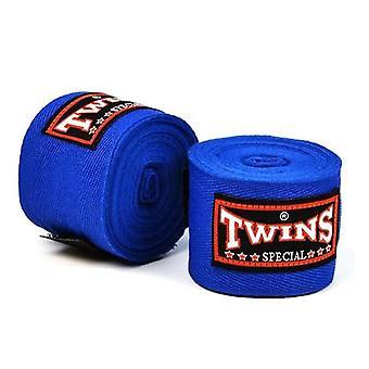 Pair 5M Twins Pro Boxing Cotton Handwraps Blue