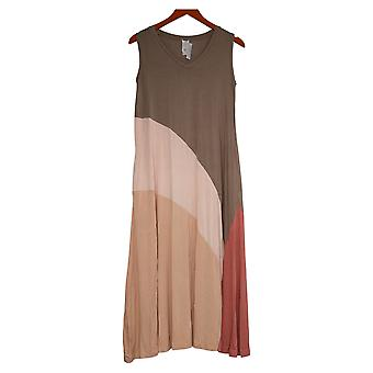 WynneLayers Petite Robe Colorblocked Sleeveless Maxi Green 758945