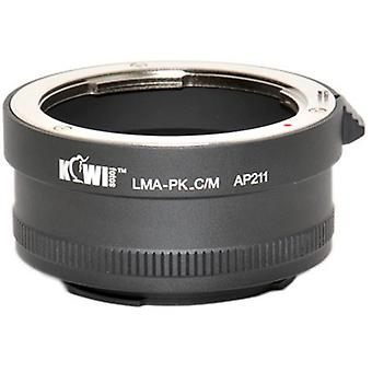 Kiwifotos Lens Mount Adapter: Allows Pentax K-Mount Bayonet Lenses to be used on any Canon EOS EF-M mount mirrorless camera (EOS-M)
