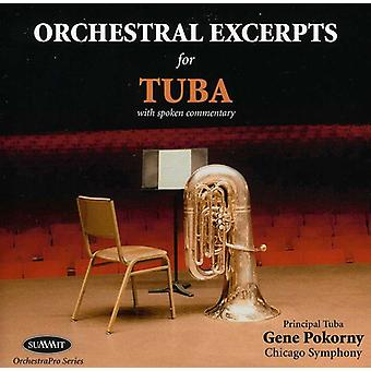 Gene Pokorny - Orchestral utdrag för Tuba [CD] USA import