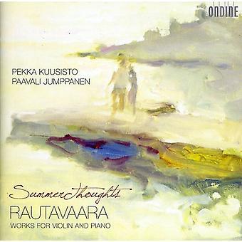 E. Rautavaara - Summer Thoughts: Rautavaara Works for Violin and Piano [CD] USA import