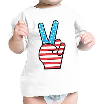 Pace figura segno della bandiera americana Baby t-shirt per Independence Day